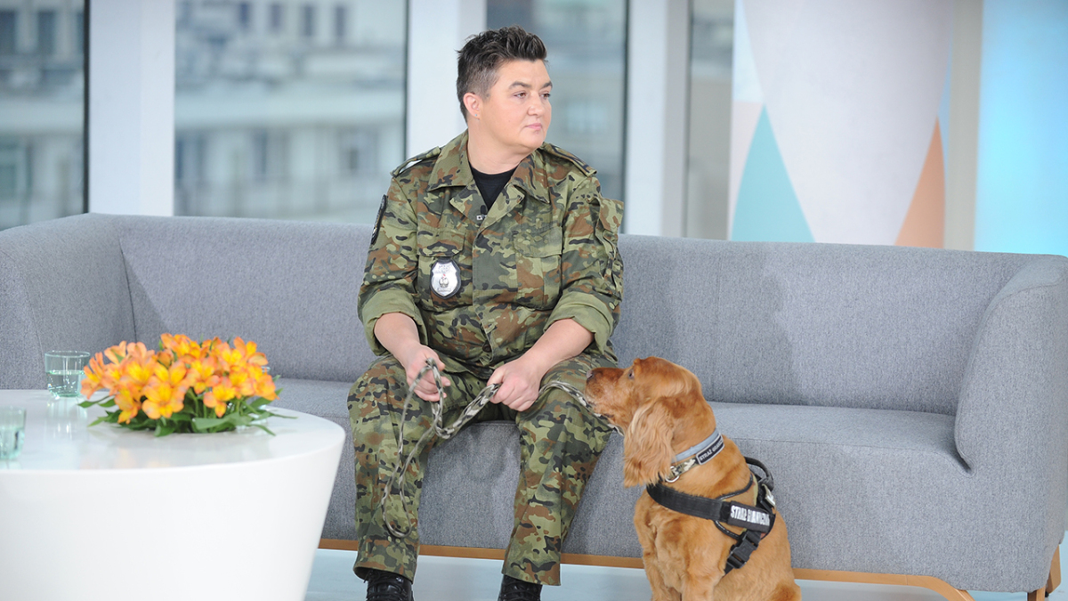 Monika Banaś i pies Dodi